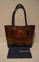 Dooney & Bourke Covington Embossed Croc Leather Cognac Rachel Tote Bag NWT - €173,54 EUR