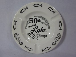 50th On The Lake Ashtray Vintage Ceramic Ashtray Chicago Souvenir Royal ... - $9.89
