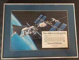 NASA SPACE STATION PRINT  ZERO GRAVITY  ZERO DEFECTS  HONEYWELL RECOGNITION - $39.59