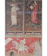 CHURCH PAINTINGS 15th C France Kermaria Chapel - 1888 COLOR Litho Print - $21.60