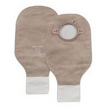 """New Image 2-Piece Drainable Pouch 2-1/4"""" with Filter, Beige - 10 Each / Box - $37.59"""