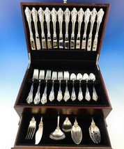 Grande Baroque by Wallace Sterling Silver Flatware Set 12 Service Dinner... - $3,955.05