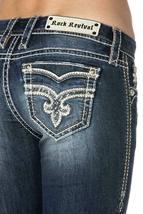 Rock Revival Women's Premium Boot Cut Light Denim Jeans Pants Royal B202 image 5