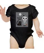 Trick-Or-Treat Skeleton Black Cat Baby Black Bodysuit - $13.99