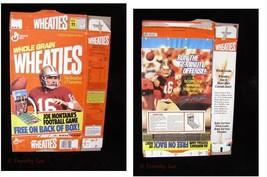 General Mills Whole Grain Wheaties Cereal Box Flat Joe Montana Football ... - $16.99