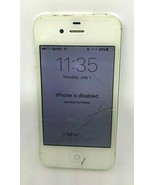 Apple iPhone 4S A1387 White Sprint For Parts or Repair Only Read Descrip... - $9.49