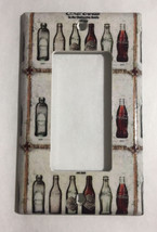 Coke Coca Cola Old bottles Light Switch Power Outlet Wall Cover Plate Home decor image 2
