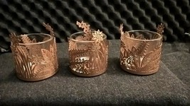 Partylite Golden Fronds Votive Trio   - $25.73