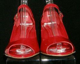 Franco Sarto 'Fashioni' red patent leather peep toe mary jane cork wedges 8M image 5