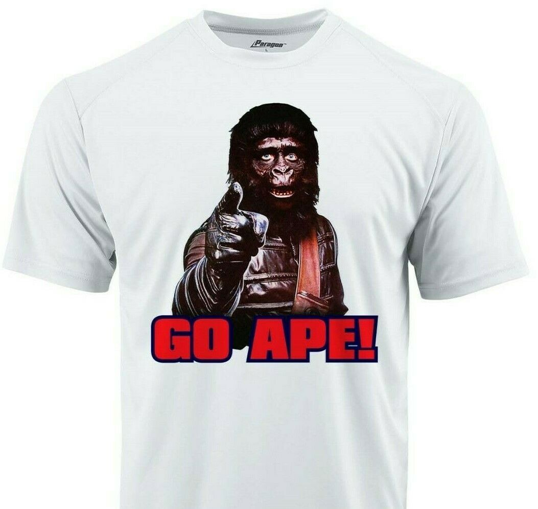Planet Apes Go Ape Dri Fit graphic Tshirt moisture wicking 80s retro Sun Shirt