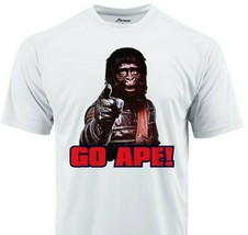 Planet Apes Go Ape Dri Fit graphic Tshirt moisture wicking 80s retro Sun Shirt image 1