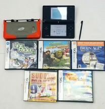 Nintendo DSi Black System, Nerf Case, Lot of 5 Games - $79.99