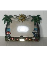 "COLLECTIBLE ST. THOMAS USVI BEACH THEMED PHOTO FRAME HOLDS 3.5"" X 5"" - $9.79"