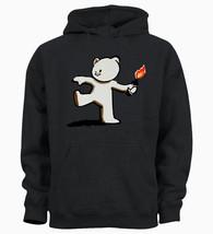 Banksy Bear Grenade Bomb Artist Gift Hoody Hoodie Sweater Gift - $21.86