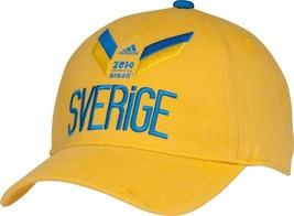 SWEDEN 2014 WORLD CUP SOCCER FUTBOL ADIDAS ADJUSTABLE HAT NEW & LICENSED - $9.70