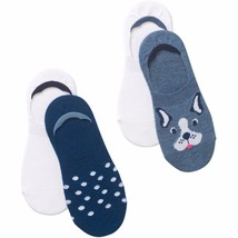 No Boundaries Mid Liner Socks 4 Pack Women's Shoe Size 4-10 Dog  #13 - $9.89