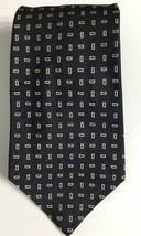 Ralph Lauren Polo Silk Tie Navy White Square Geometric 56 x 3.5 Made in ... - $80.33