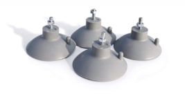Star Food Service Suction Cup Feet for Commercial Restaurant Durable Rub... - $13.59