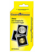 Guardhouse Tetra Snaplock Coin Holders, 1 oz AGE, 2x2, 10 pack - $6.74