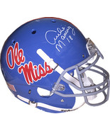 Archie Manning signed Ole Miss Rebels TB Light Blue Full Size Schutt Aut... - $309.95