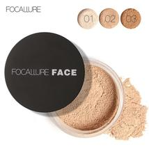 FOCALLURE New Brand Makeup Powder 3 Colors Loose Powder Face Makeup Waterproof L - $5.74