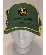 John Deere LP67010 Green Adjustable Baseball Cap With Leaping Deer Logo - $15.78