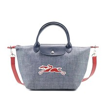 Used Longchamp Le Pliage On The Road Canvas Leather Tote Small Size - $99.00