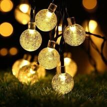 Guirlande lumineuse solaire, Ubegood LED cordes Blanc Chaud Chaine De La... - $29.00