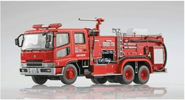 Aoshima 1/72 Working Vehicle No.4 Chemical Fire Pumper Truk Osaka C6 Model Kit - $29.02
