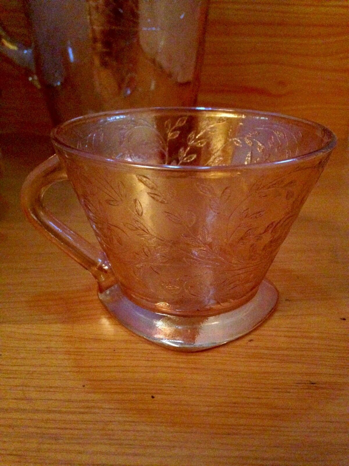 Vintage Carnival Glass 3 pc. Pitcher And Cup Set Antique Iridescent image 6