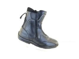 Tourmaster Men's SIZE 11 Medium Black Leather Waterproof Motorcycle Boot... - $69.66