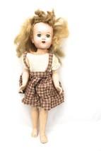 "Vintage Sleepy Eye Doll Plastic 17"" Tall Dressed Teeth Show Adopt Me! - $13.72"