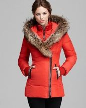 Mackage Women's Pink Down Coat Adali Lavish Fur Trim Hood Size XXS image 5