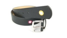 $34 Juicy Couture Black Belt Small w/ Colored Circles along the belt. New  - $20.04