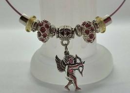 Custom-Made Pink Memory Wire Cupid Charm Bracelet! - $9.99