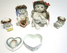 """Dreamsicles Figurines & Trinket box, Lot of 4 Signed by Kirsten,  2-1/4""""... - $14.52"""