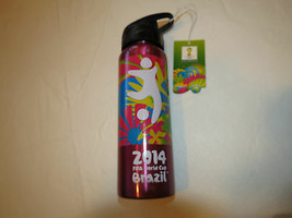 FIFA World Cup Brazil 2014 stainless steel bottle pink cup Beverage 20 f... - $16.02