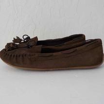 Lucky Brand Alecks Flat Slip Loafers Suede Brown Tassel Women Size 11 M - $15.53
