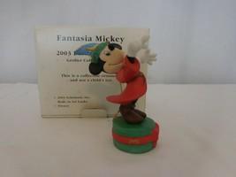 Grolier Fantasia Mickey 1980s Disney Christmas Ornament w/ Box 025904 Vi... - $17.84
