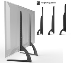 Universal Table Top TV Stand Legs for Sharp LC-48CFE4041K Height Adjustable - $43.49
