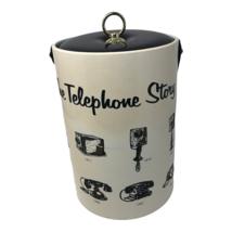 Vintage History of the the Telephone Ice Bucket Retro Mid Century Barware  - $36.09