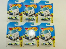 Lot of 6 Hot Wheels 2016 Volkswagen T2 Pickup White HW Art Cars # 1/10 ~ NEW - $21.11