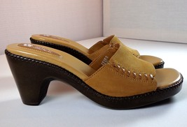 Natural Soul Naturalizer Slides Women's Tan Suede Bella Slip On Shoes Si... - $35.56