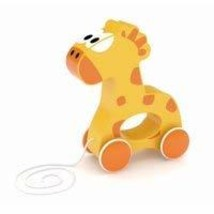 J'Adore Paris Gabi The Giraffe Wood Pull Toy - $16.76