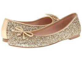 Kate Spade New York Willa Gold Flats Shoes Mult Sz - $109.99
