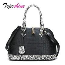 Toposhine Crocodile Pattern Ladies Handbag Quality Women Shell Bags Fashion - $50.42
