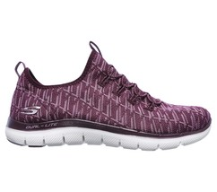 Skechers Flex Appeal 2.0 Insights Plum Womens Slip On Walking Shoes 12765/PLUM image 2