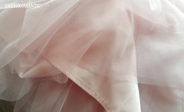 Blush High Waisted Tulle Maxi Skirt Blush Bridesmaid Skirts Full Length NWT image 6