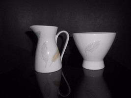 Rosenthal China Loewy Bunte Blatte Colored Leaves Mini Creamer & Sugar Bowl - $19.00