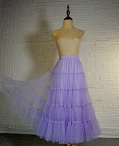 Princess Long Tulle Skirt Outfit Tiered Sparkle Tulle Skirt High Waist Plus Size image 2